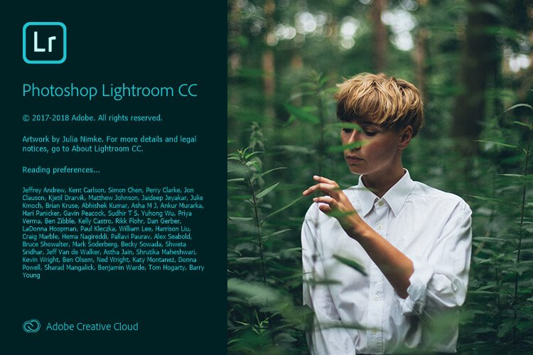 Lightroom Open Screen